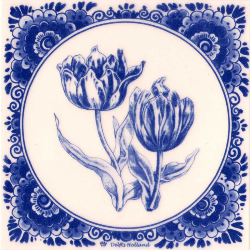 Tulpen - Tegel 15x15cm
