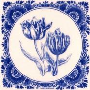 Tegels Tulpen - Tegel 15x15 cm