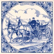 Tiles Horse Wagon 1900 - Tile 15x15 cm