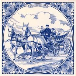 Tiles Horse Wagon 1900 - Tile 15x15 cm