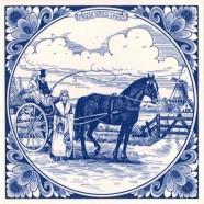 Tiles Friesian gig 1900 - Tile 15x15 cm