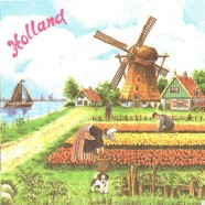 Napkins and Napkin Holders Tulipfields Windmill Napkins - Color