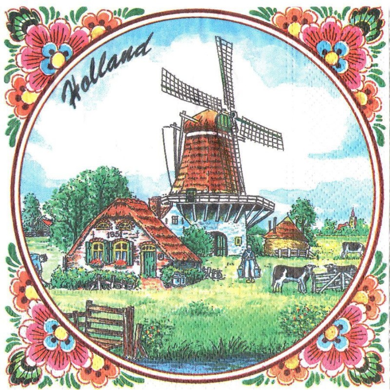 Napkins and Napkin Holders Windmill Holland Napkins - Color