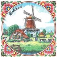 Windmolen Holland Servetten - Kleur