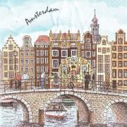 Servetten en Servethouders Amsterdamse Grachten Servetten - Kleur