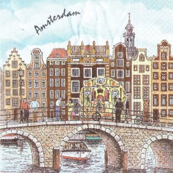 Amsterdam Canal Houses Napkins - Color