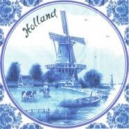 Napkins and Napkin Holders Windmill Holland Napkins - Delft Blue