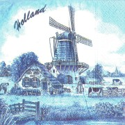 Napkins and Napkin Holders Windmill Holland Napkins - Delft Blue