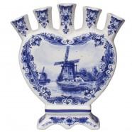 Windmill Delft Blue - Heart Tulip Vase 16cm