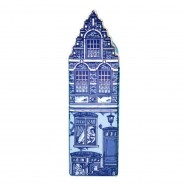 Delft Blue - Small Red Light District -  Canal House
