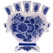 Tulpenvazen Bloemen Delfts Blauw - Hart Tulpenvaas 16cm