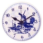 Klokken Wandklok Rond - Delfts Blauw 15cm