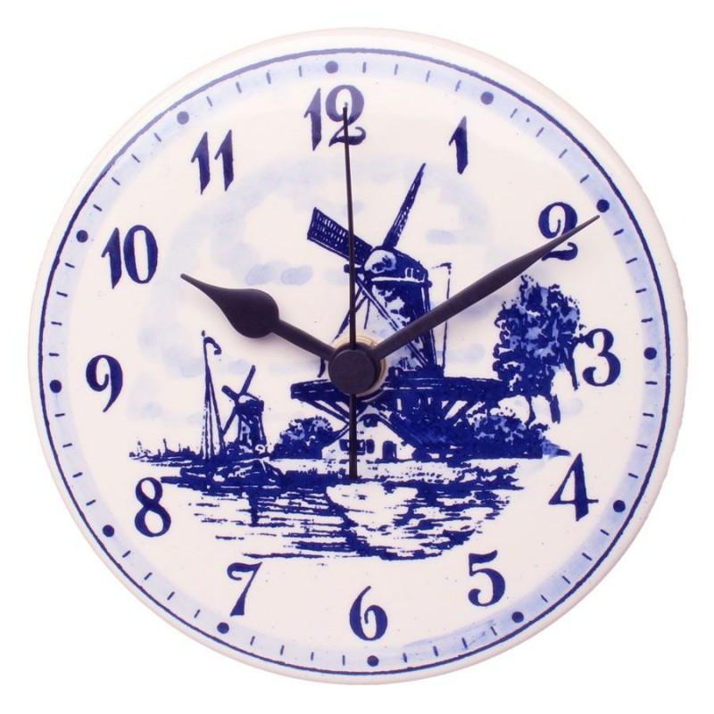 Wall Clock Round - Delft Blue 15cm