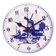 Clocks Wall Clock Round - Delft Blue 15cm