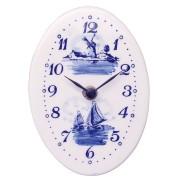 Klokken Wandklok Ovaal - Delfts Blauw 15cm