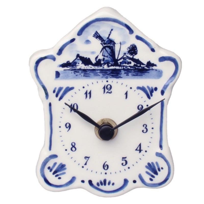 Mini Wandklok - Delfts Blauw 10,5 cm