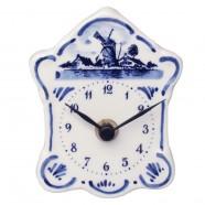 Mini Wall Clock - Delft Blue 10,5 cm