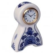 Miniatuur Klok Staand Bloem 10cm - Delfts Blauw