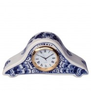 Clocks Miniature Pendulum Clock Flowers 5x11 cm - Delft Blue