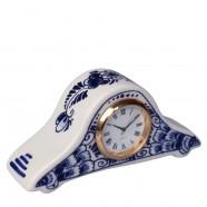 Miniatuur Pendule Klok Bloem 5x11 cm - Delfts Blauw