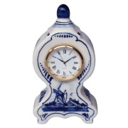Clocks Miniature Mantel Clock Windmill 11cm - Delft Blue