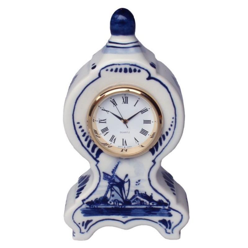 Miniatuur Klok Staand Molen 11cm - Delfts Blauw