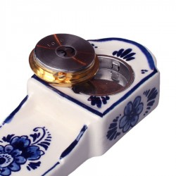 Clocks Miniature Mantel Clock Windmill 11cm - Delft Blue