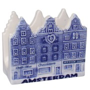 Napkins and Napkin Holders Napkins Holder Canal Houses - Delft Blue