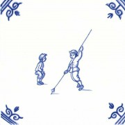 Old Dutch Children's Games Pole Stick Jump - Childs Play 12,5 cm