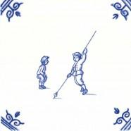 Old Dutch Children's Games Pole Stick Jump - Childs Play 12,5 cm