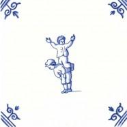 Old Dutch Children's Games Acrobatics - Childs Play 12,5 cm