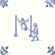 Old Dutch Children's Games Rocking Swinging - Childs Play 12,5 cm