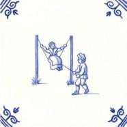 Oud Hollandse Kinderspelen Schommelen - Kinderspelen 12,5cm