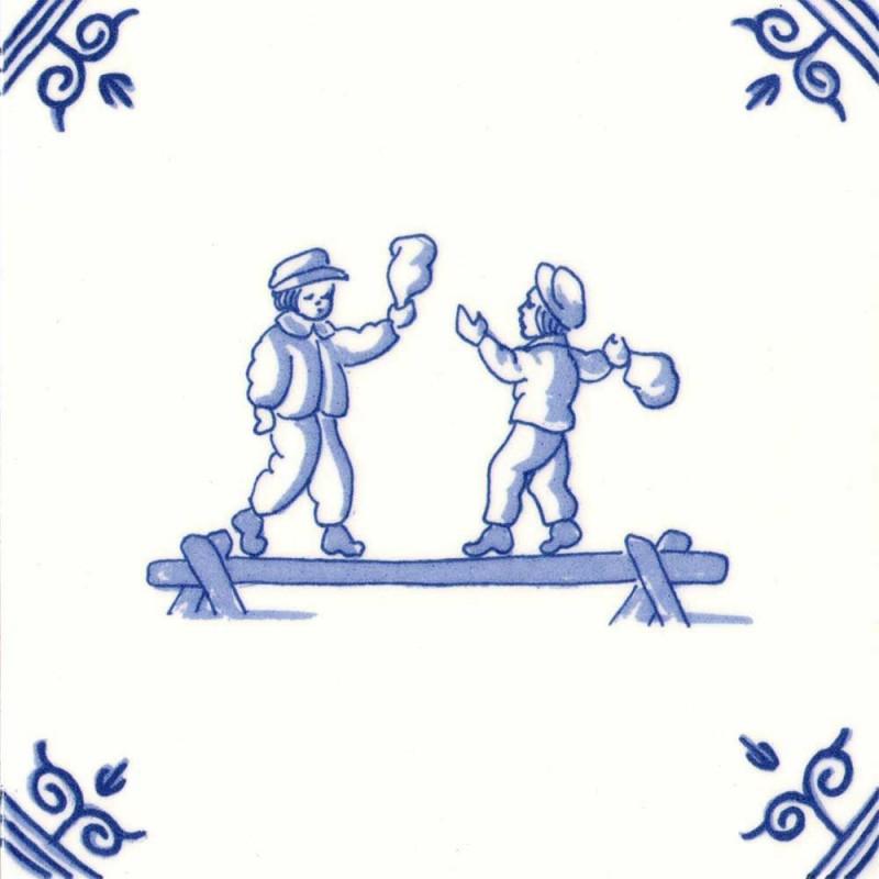 Oud Hollandse Kinderspelen Zak slaan op balk - Kinderspelen 12,5cm