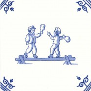 Old Dutch Children's Games Bag fight on beam - Childs Play 12,5 cm