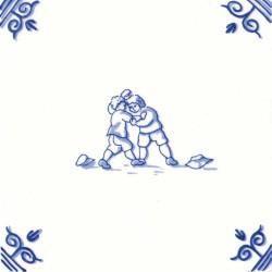 Oud Hollandse Kinderspelen Worstelen - Kinderspelen 12,5cm
