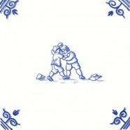 Old Dutch Children's Games Wrestling - Childs Play 12,5 cm