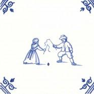 Oud Hollandse Kinderspelen Zweeptollen Tollen - Kinderspelen 12,5cm