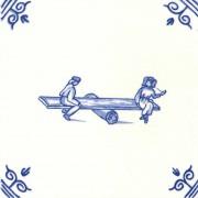 Oud Hollandse Kinderspelen Wippen Wip Wap - Kinderspelen 12,5cm