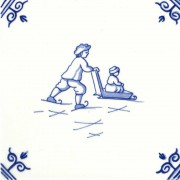 Oud Hollandse Kinderspelen Schaatsen Sleeen - Kinderspelen 12,5cm