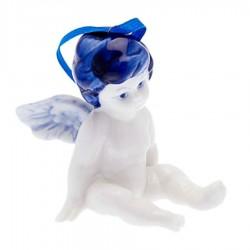 Angel Sitting B - X-mas Figurine Delft Blue