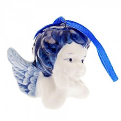 Angel Head B - X-mas Figurine Delft Blue