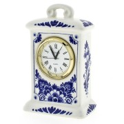 Clocks Miniature Clock Flowers 9cm - Delft Blue
