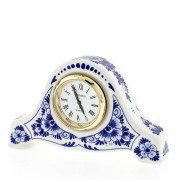 Clocks Miniature Clock Flowers 6cm - Delft Blue