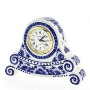 Clocks Miniature Clock Flowers 8cm - Delft Blue