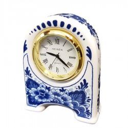 Miniature Clock Flowers 7cm - Delft Blue