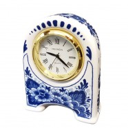 Clocks Miniature Clock Flowers 7cm - Delft Blue