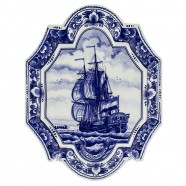 Applique - Wall Plates Applique Sailing Ship - Large Vertical 27 x 35 cm