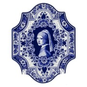 Applique - Wall Plates Applique Girl with a Pearl Earring - Small Vertical 18 x 23 cm