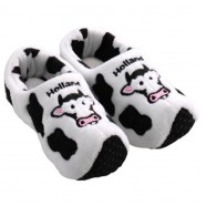 Clogs Slippers Cow Holland Black White - Clog Slipper